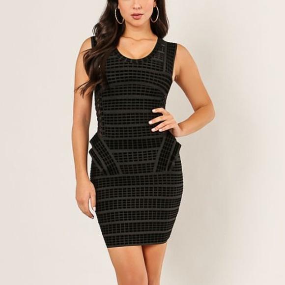 Wow Couture Dresses 2fer Peplum Black Dress Poshmark